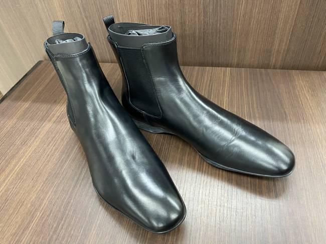 プラダ・レザーショートブーツを買取|横浜|たまプラーザ店