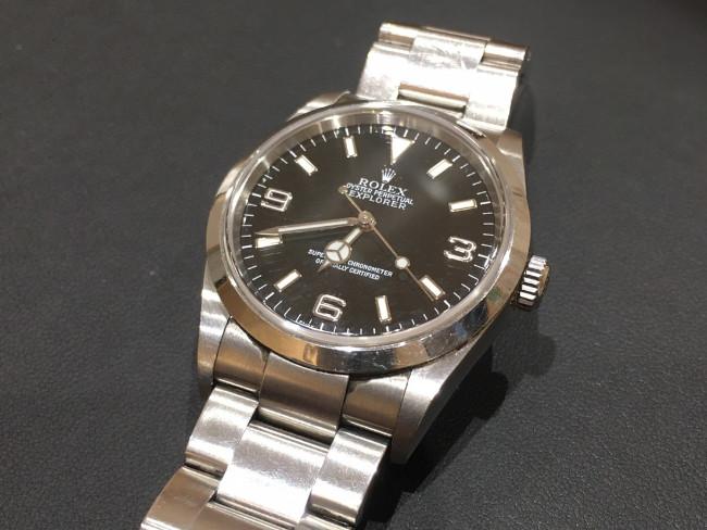 ロレックス・エクスプローラーⅠ・114270を買取|名古屋|ららぽーと名古屋みなとアクルス店