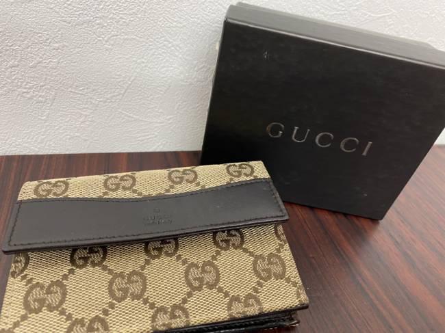 グッチ・GGキャンバス・コンパクト財布を買取|広島|広島中央店