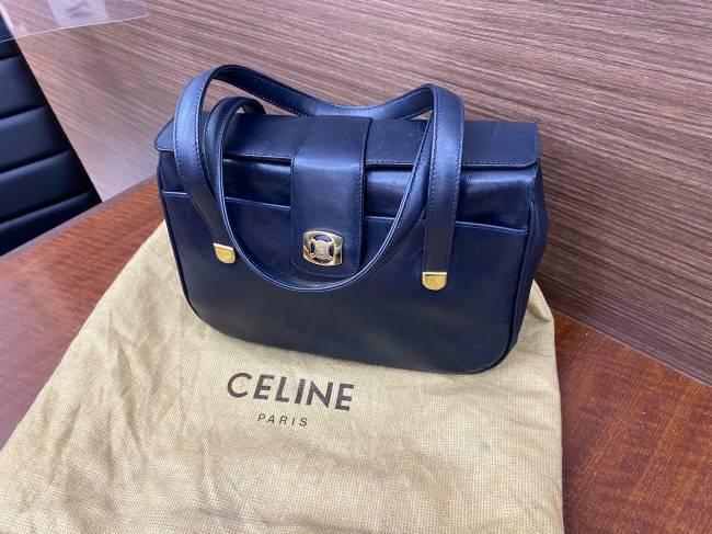セリーヌ・ビンテージ レザーハンドバッグを買取 神戸 西宮店