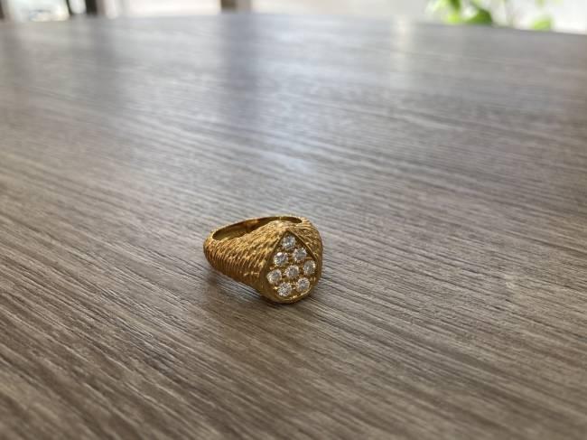 リング・k18 セルパンポエム・ダイヤモンドリングを買取 東京・港区 白金台プラチナ通り店