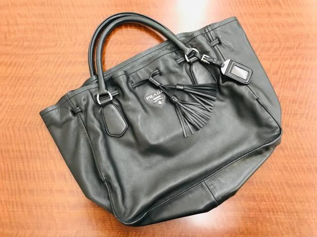 プラダ・ナッパレザー・フリンジ付きトートバッグを買取 大阪 伊丹店