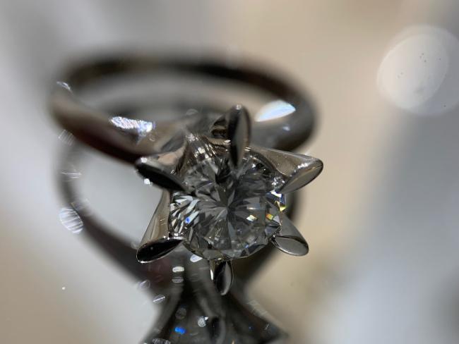 貴金属・Pt900・立爪リング
