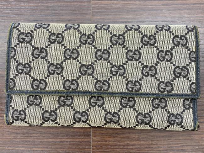 グッチ・GG柄・三つ折り財布を買取|姫路|加古川店