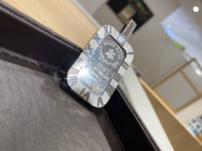貴金属・プラチナ・インゴッド・スイスバンクを買取 東京・台東区 上野マルイ店