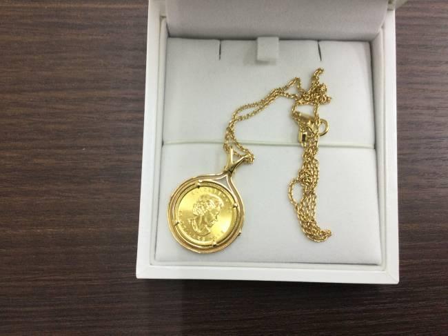 金・メープルコイン付・ネックレス・k18 k24を買取 東京 葛西店