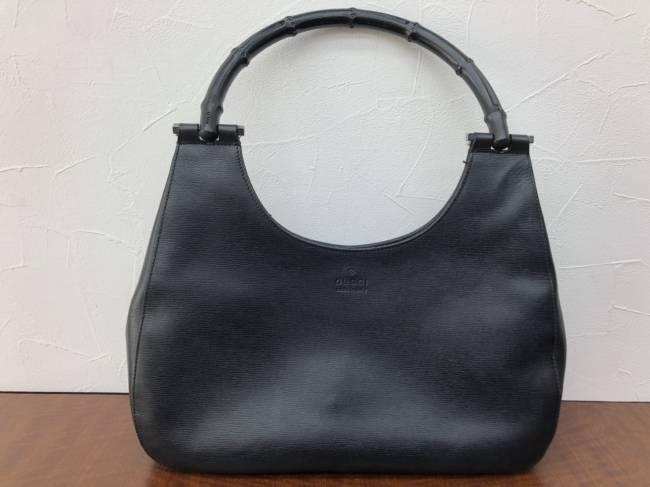 グッチ・バンブー・レザーハンドバッグを買取 名古屋 名古屋平針店