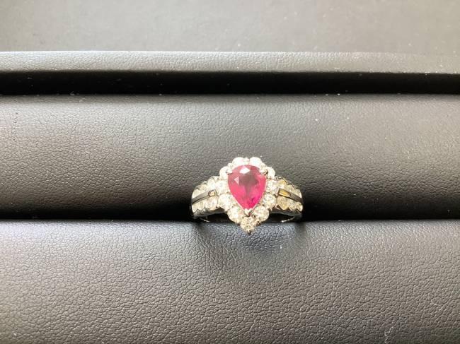 ノーブランド・プラチナルビーダイヤリングを買取|奈良|学園前登美ヶ丘店