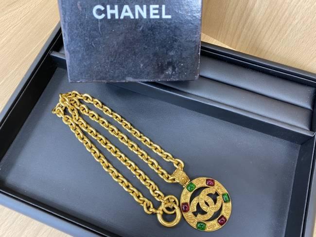 シャネル・カラーストーンヴィンテージネックレスを買取|大阪|平野長吉店