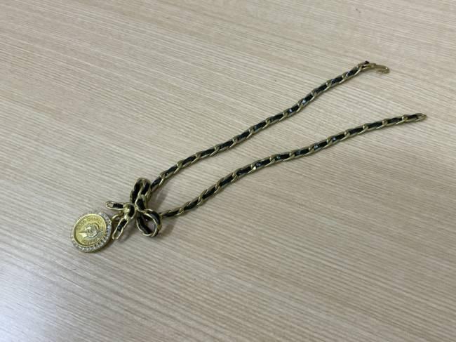 シャネル・リボン・ラインストーンネックレスを買取|京都|京都山科店