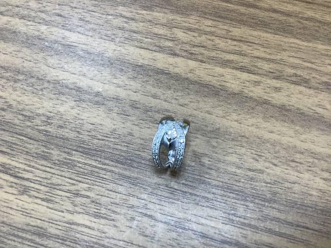 ノーブランド・K18WG・ダイヤリングを買取|奈良|学園前登美ヶ丘店