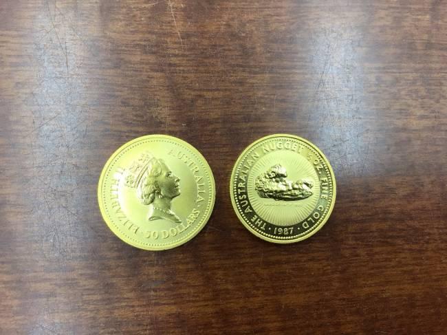 ナゲット金貨50ドル・2枚を買取|川崎|川崎溝の口店