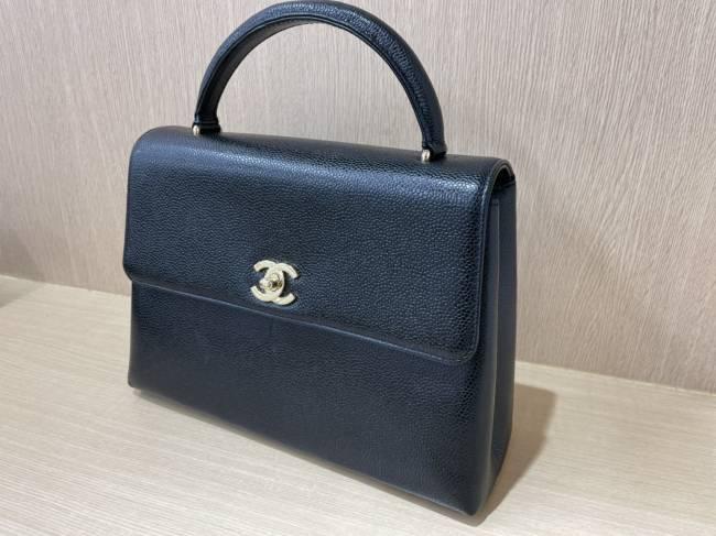シャネル・キャビアスキン・ケリー型ハンドバッグを買取|京都|京都山科店