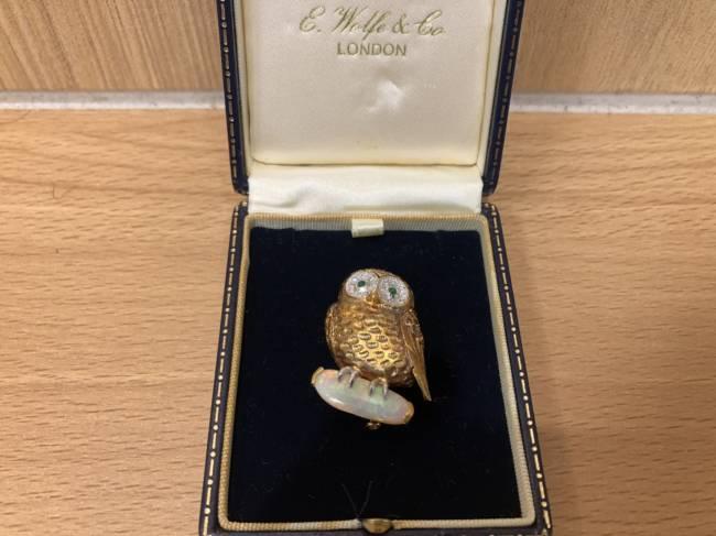 宝飾品・オパール2.97/ダイヤモンド計0.70ct・ブローチを買取|所沢|所沢店