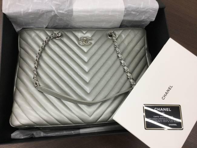 シャネル・vステッチ・チェーン・キャビアスキン・ショルダーバッグを買取|東京|葛西店
