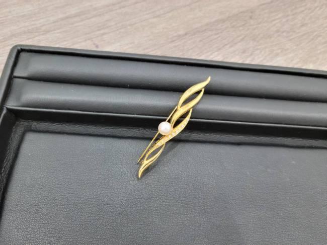 ミキモト・パールブローチ・K18を買取 東京・港区 白金台プラチナ通り店