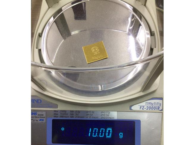 貴金属・プレート・K24・10gを買取|川口|西川口店