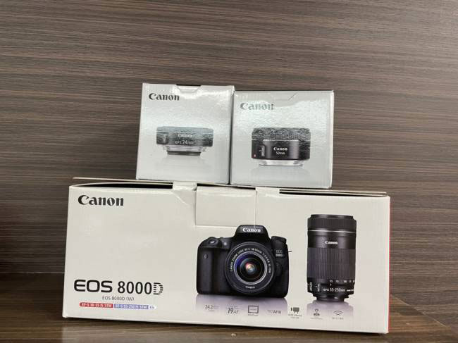 CANON・EOS・8000Dダブルズームキット18-55/55-250・交換レンズを買取|梅田|塚口店