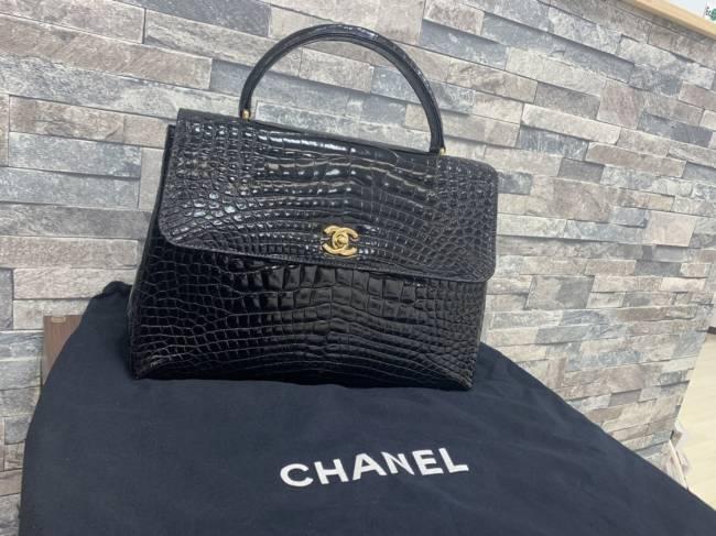 シャネル・クロコダイル・ケリー型ハンドバッグを買取|大阪|リノアス八尾店