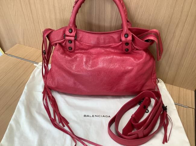 バレンシアガ・シティ・2wayバッグ・ピンクを買取|奈良|学園前登美ヶ丘店