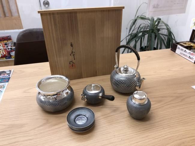 貴金属・銀製品・純銀・茶器揃・秀峰作を買取|埼玉|上尾店