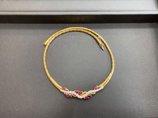 ノーブランド・ルビー/ダイヤ付きネックレスを買取|豊田|豊田下市場店