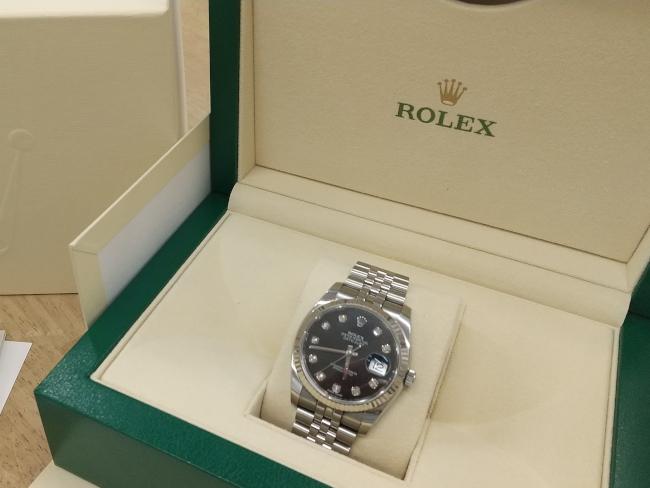 ロレックス・デイトジャスト・ダイヤ10P・116234Gを買取|姫路|広畑店