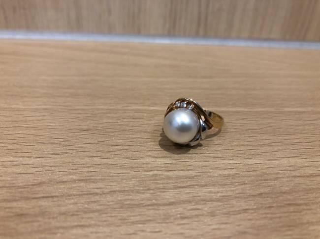 ジュエリー・K18×Pt900・パール/メレダイヤリングを買取|所沢|所沢店