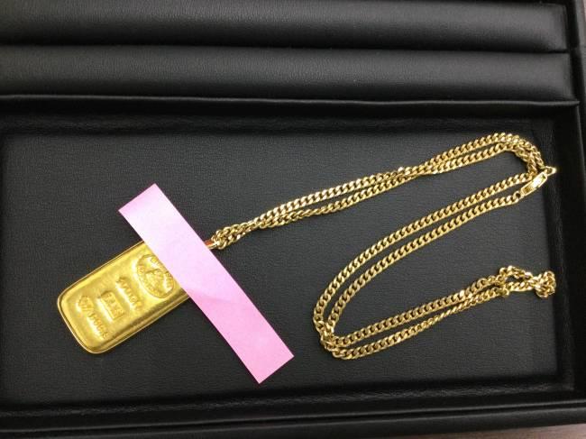 貴金属・k24 インゴット・k18 ネックレスを買取 東京 葛西店