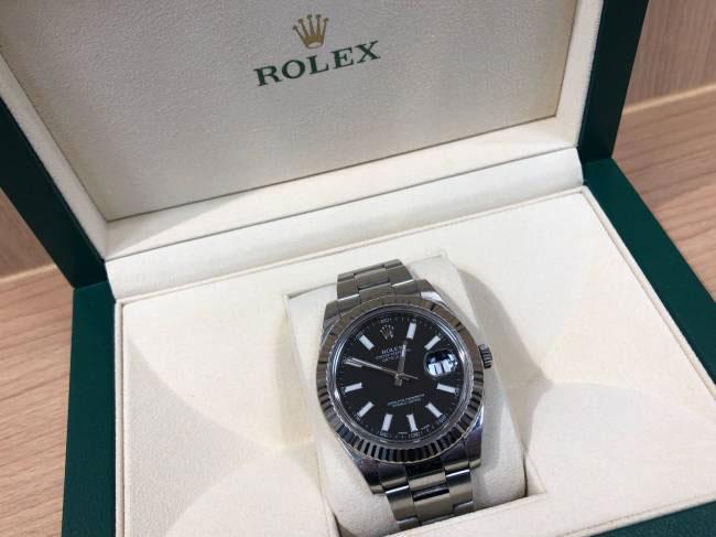 ロレックス・デイトジャストⅡ・オイスターパーペチュアル・116334を買取|京都|伏見桃山店