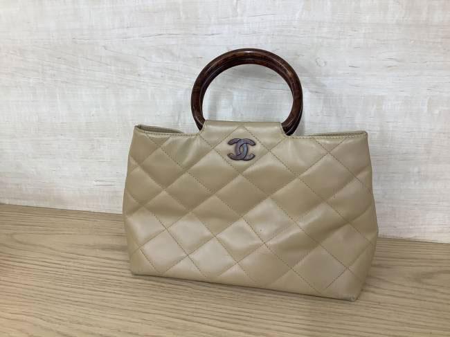 シャネル・ラムスキン・べっ甲調ハンドバッグを買取|京都|京都西院店