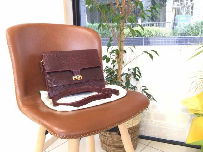 グッチ・リザード・ハンドバッグを買取|京都|京都山科店